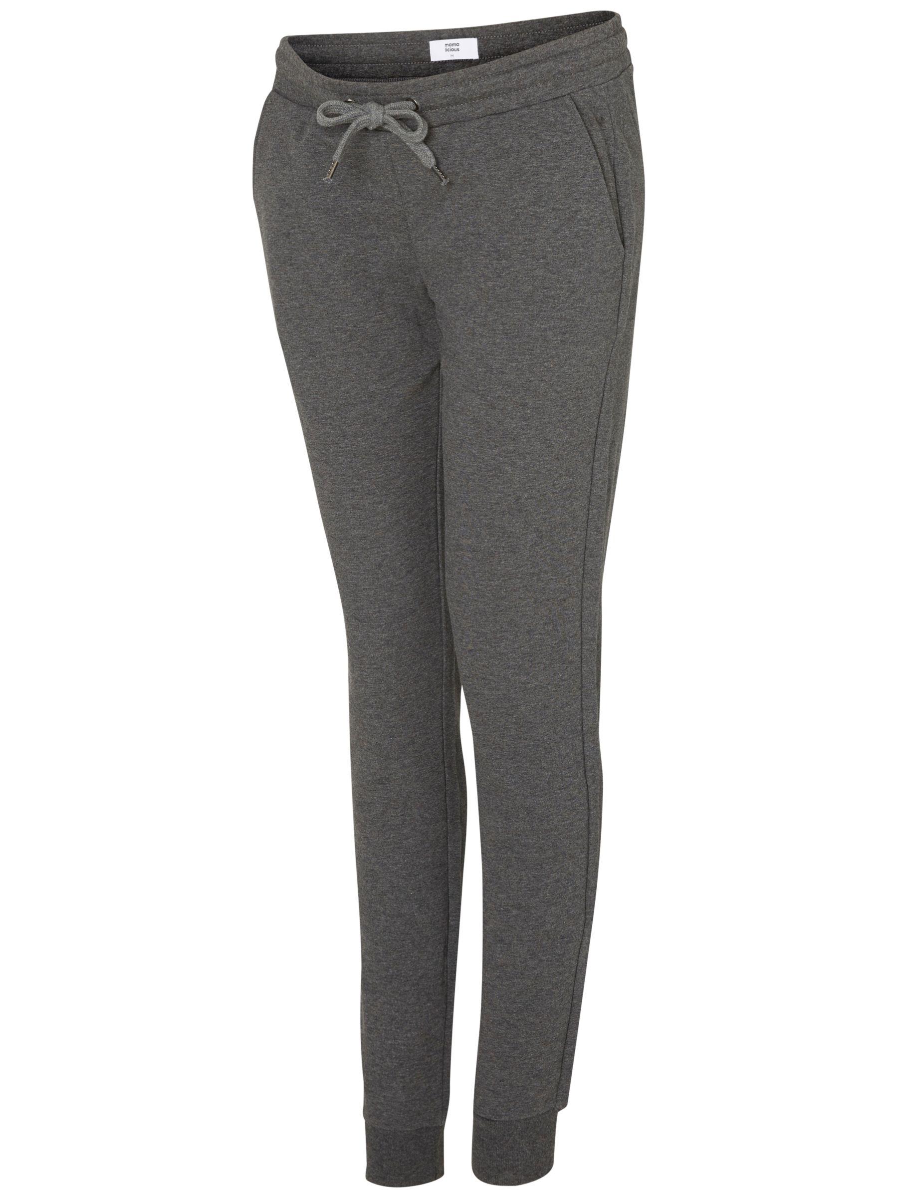 Mamalicious Mamalicious Sammy Jersey Maternity Trousers, Grey Melange