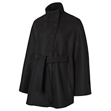 Buy Mamalicious Siri Cape Maternity Coat, Black Online at johnlewis.com