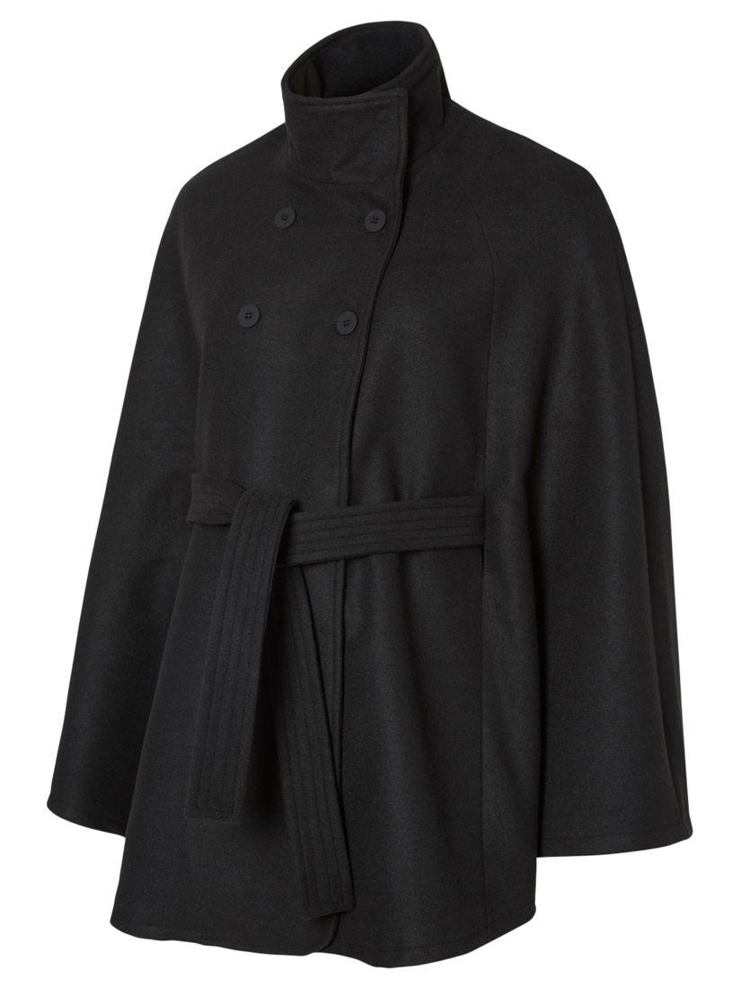 Mamalicious Mamalicious Siri Cape Maternity Coat, Black