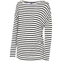 Buy Seraphine Miller Striped Nursing Maternity Top, Black/Ivory Online at johnlewis.com