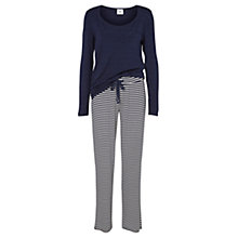 Buy Mamalicious Tanny Nell Maternity Nursing Pyjamas, Navy/White Online at johnlewis.com