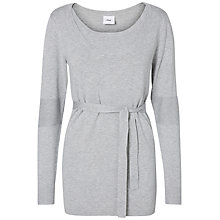 Buy Mamalicious Jamilia Nell Maternity Nursing Top, Grey Melange Online at johnlewis.com