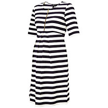 Buy Isabella Oliver Baywood Stripe Maternity Dress, Navy/White Online at johnlewis.com