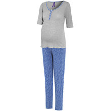 Buy Séraphine Pearl Print Maternity Pyjamas, Blue/Grey Online at johnlewis.com