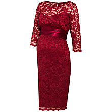 Buy Séraphine Seraphine Maternity Lace Dress, Claret Online at johnlewis.com