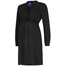 Buy Seraphine Aveline Maternity Shirt Dress, Black Online at johnlewis.com