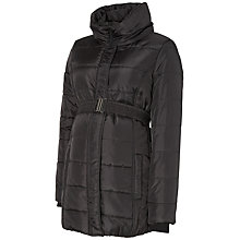 Buy Mamalicious Quilted Padded Maternity Coat, Black Online at johnlewis.com