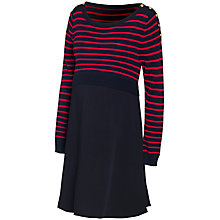 Buy Séraphine Emma Maternity Nursing Dress, Navy/Red Online at johnlewis.com