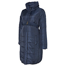 Buy Mamalicious Long Quilted Padded Maternity Coat, Navy Online at johnlewis.com