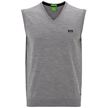 Buy BOSS Green Pro Golf Vily Wool Sleeveless V-Neck Jumper, Light Pastel Grey Online at johnlewis.com