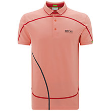 Buy BOSS Green Pro Golf Paddy MK Polo Shirt, Open Pink Online at johnlewis.com