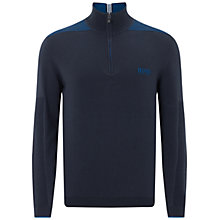 Buy BOSS Green Pro Golf Zayo Zipped Jumper, Navy Online at johnlewis.com