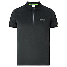 Buy BOSS Green Pro Golf Paddy 1 Polo Shirt, Charcoal Online at johnlewis.com
