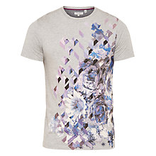 Buy Ted Baker Therzo Floral Graphic T-Shirt, Grey Marl Online at johnlewis.com