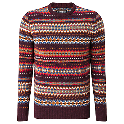 Men's Vintage Style Sweaters – 1920s to 1960s Barbour New Martingale Fair Isle Crew Neck Jumper £89.95 AT vintagedancer.com