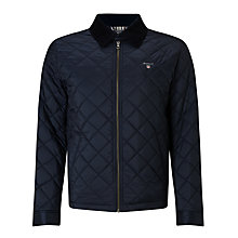 Buy Gant Quilted Windcheater Jacket, Navy Online at johnlewis.com