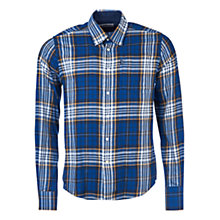 Buy Barbour Essentials Alvin Checked Shirt, Navy Online at johnlewis.com