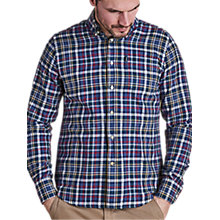 Buy Barbour Essentials Alvin Shirt, Blue Marl Online at johnlewis.com