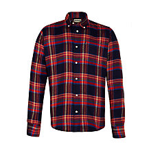 Buy Barbour Check Shirt, Red/Navy Online at johnlewis.com