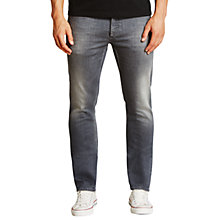 Buy Denham Razor WGS Stretch Slim Jeans, Mid Grey Online at johnlewis.com