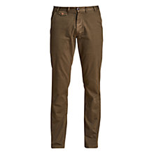 Buy Barbour Essentials Neuston Twill Trousers, Willow Green Online at johnlewis.com