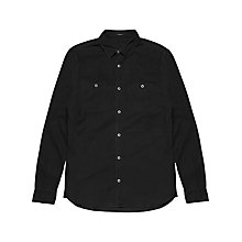 Buy Denham Edge Cotton Shirt, Washed Black Online at johnlewis.com