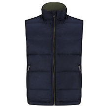 Buy Gant Alta Down Padded Gilet, Navy Online at johnlewis.com