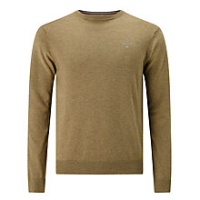 Buy Gant Cotton Wool Crew Neck Jumper Online at johnlewis.com