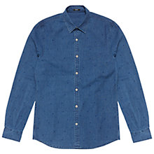 Buy Denham Ellis Stripe Dot Shirt, Indigo Online at johnlewis.com