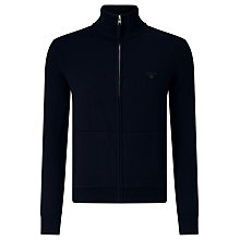 Buy Gant Zip Through Jumper, Navy Online at johnlewis.com