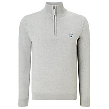 Buy Gant Half Zip Cotton Jumper Online at johnlewis.com