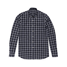Buy Denham Pocket Brushed Flannel Shirt, Grey Marl Online at johnlewis.com