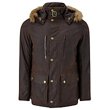 Buy Barbour Greatcoat Otus Jacket, Rustic Online at johnlewis.com
