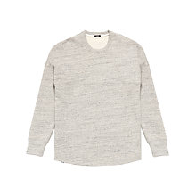 Buy Denham Slice Heavy Slub Sweatshirt, Grey Marl Online at johnlewis.com