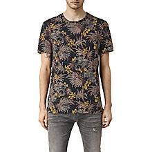 Buy AllSaints Sensu Floral Camo Crew Neck T-Shirt, Vintage Black Online at johnlewis.com