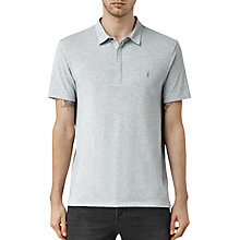Buy AllSaints Tonic Panel Polo Shirt, Mirage Blue Online at johnlewis.com