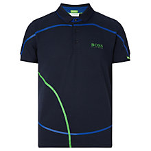 Buy BOSS Green Pro Golf Paddy MK Polo Shirt, Navy Online at johnlewis.com