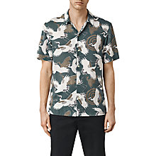 Buy AllSaints Tsuru Short Sleeve Shirt, Blue Online at johnlewis.com