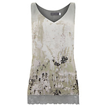 Buy Mint Velvet Summer Print Lace Cami Top, Green Online at johnlewis.com