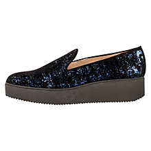 Buy Unisa Caldo Sparkle Wedge Heeled Loafers, Baltic Online at johnlewis.com
