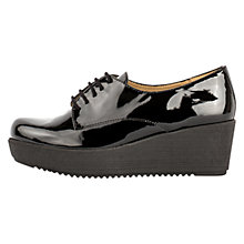 Buy Unisa Ferris Wedge Heeled Brogues, Black Online at johnlewis.com