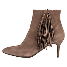 Buy Unisa Kase Tassel Stiletto Ankle Boots, Beige Online at johnlewis.com