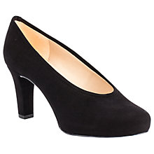 Buy Unisa Nianta Block Heeled Court Shoes, Black Online at johnlewis.com