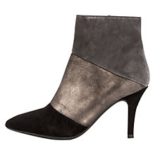 Buy Unisa Tuyo Stiletto Ankle Boots, Black/Grey Online at johnlewis.com