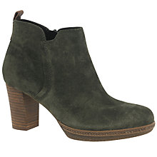Buy Gabor Tournament Wide Block Heeled Ankle Boots, Green Online at johnlewis.com