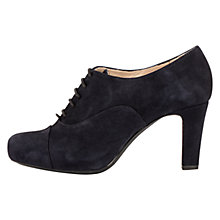 Buy Unisa Nun Cone Heeled Brogues, Navy Online at johnlewis.com