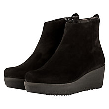 Buy Unisa Felice Wedge Heeled Ankle Boots, Black Online at johnlewis.com