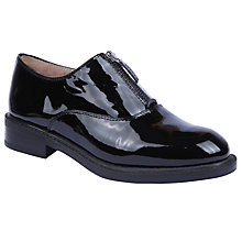 Buy Unisa Belus Flat Brogues, Black Patent Leather Online at johnlewis.com
