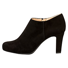 Buy Unisa Norus Cone Heeled Shoe Boots, Black Online at johnlewis.com