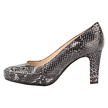 Buy Unisa Numar Cone Heeled Court Shoes, Navy Snake Online at johnlewis.com